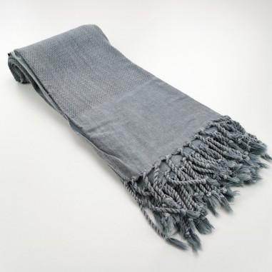 Honeycomb stonewashed towel grey