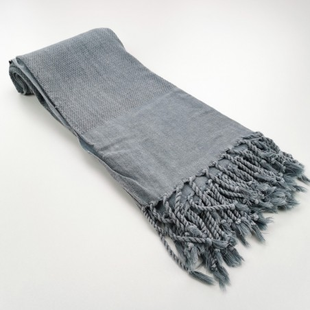 Fouta nid d'abeille Stonewashed Honeycomb gris