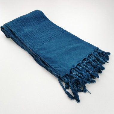 Honeycomb stonewashed towel celestial blue