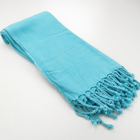 Honeycomb stonewashed towel turquoise