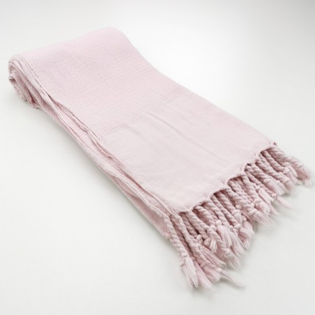 Honeycomb stonewashed towel pink