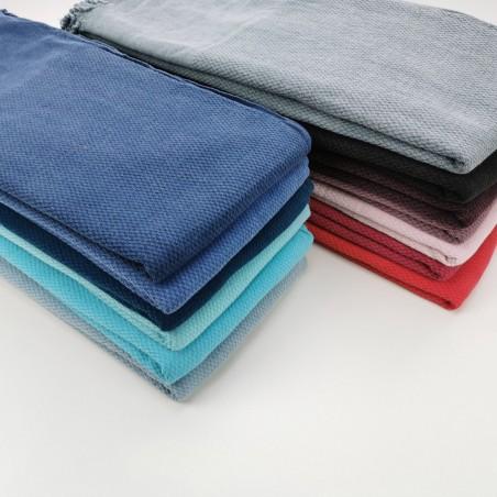 Honeycomb stonewashed towels wholesale