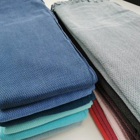 Honeycomb stonewashed towels wholesaler