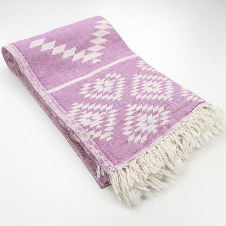 aztec pattern beach towel amethyst