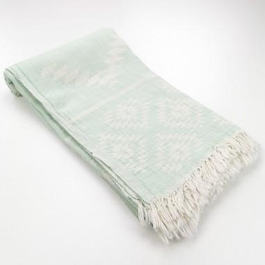 aztec pattern beach towel mint