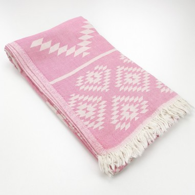 Jacquard Turkish towel Aztec kilim