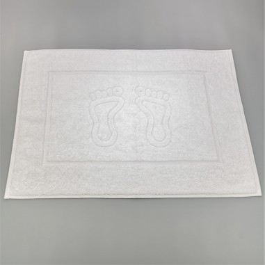 Absorbent cotton bath mat for intensive use