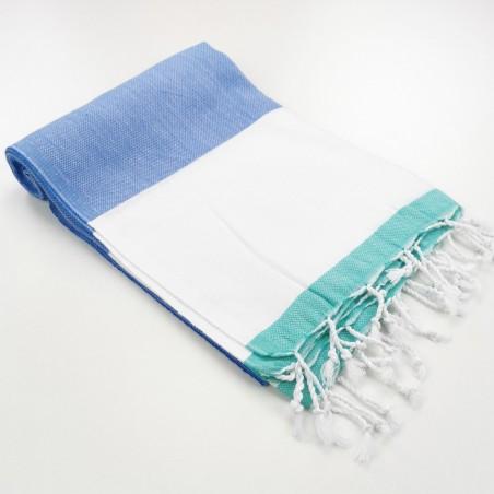 fouta tricolore bleu
