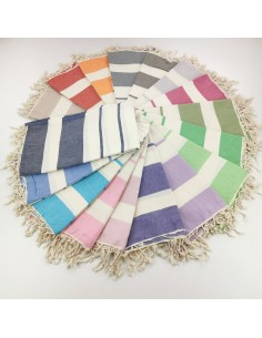 Turkish towels natural ecru cotton Calypso