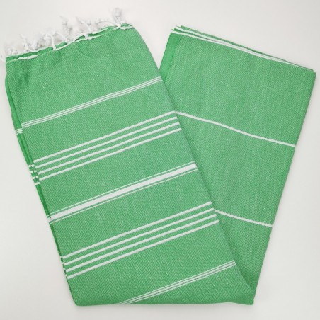 apple green flat sultan peshtemal towel
