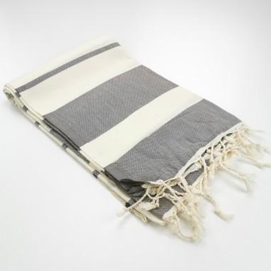 Fouta plate coton naturel ecru Calypso
