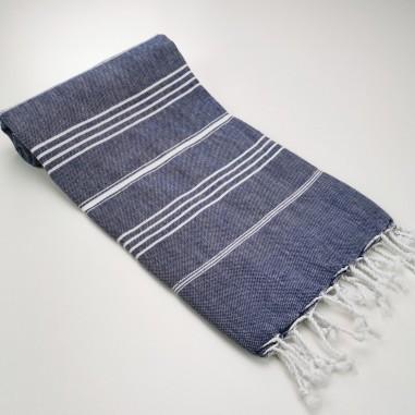 fouta plate sultan bleu marine