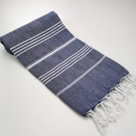 Turkish peshtemal towel navy