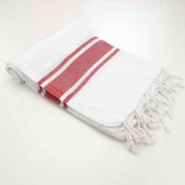 white towel red stripes