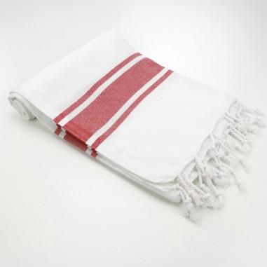 white towel red stripes