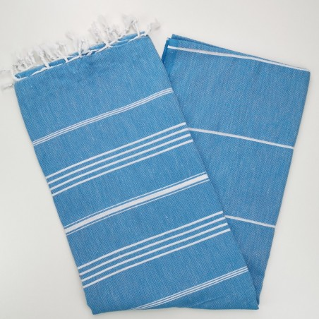 pool blue flat sultan peshtemal towel