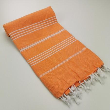 Turkish peshtemal towel orange