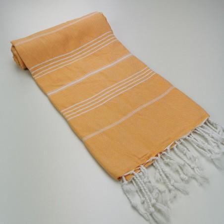 Turkish peshtemal towel tangerine