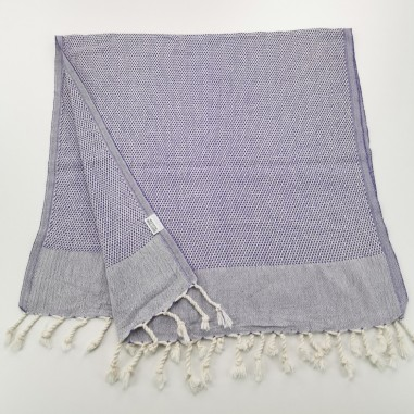 Mini Honeycomb weave Turkish hand towel indigo purple