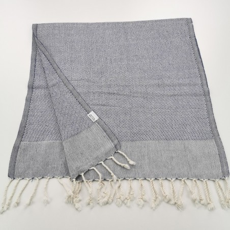 Mini Honeycomb weave Turkish hand towel navy blue