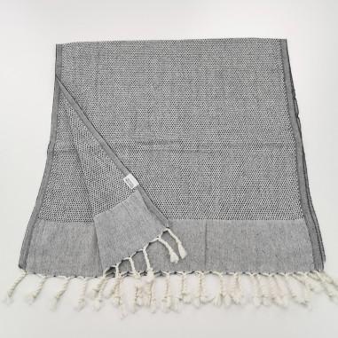 Mini Honeycomb weave Turkish hand towel black