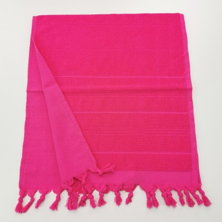 Mini terry Turkish pestemal hand towel fuchsia