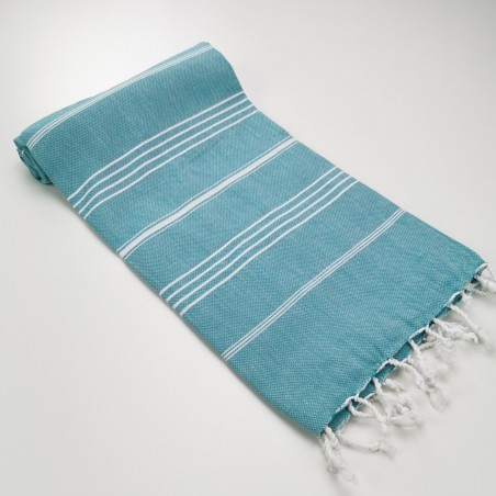 Turkish peshtemal towel dark cyan