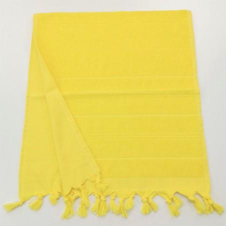 Mini terry Turkish pestemal hand towel yellow
