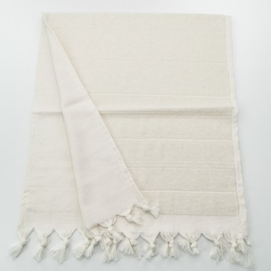 Mini terry Turkish pestemal hand towel ecru beige