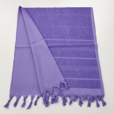 Mini terry Turkish pestemal hand towel indigo
