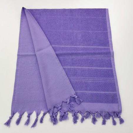 Mini serviette fouta eponge unie indigo