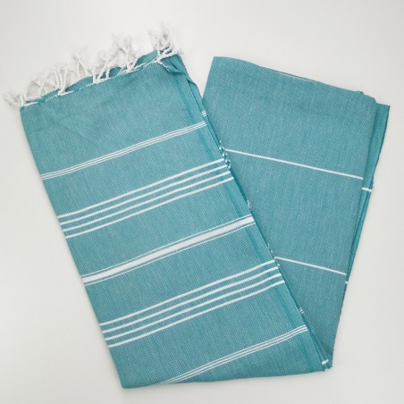 dark cyan flat sultan peshtemal towel