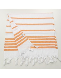 Mini fouta chevron rayures orange