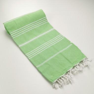 Turkish peshtemal towel linden green