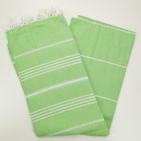linden green flat sultan peshtemal towel