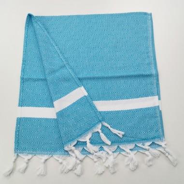 Fouta Diamond bleu