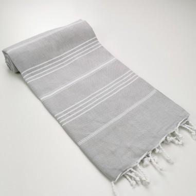 fouta plate sultan gris clair