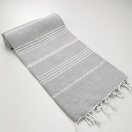 Turkish peshtemal towel light grey