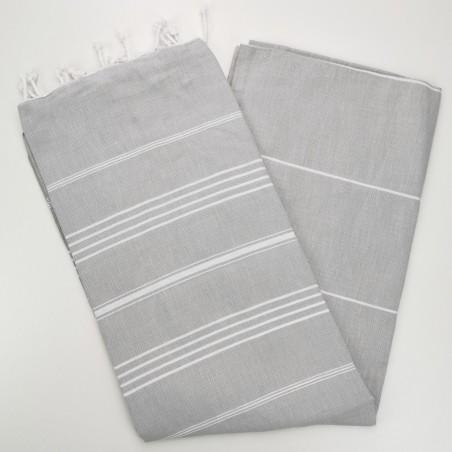 light grey flat sultan peshtemal towel