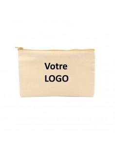 Trousse de toilette coton avec logo imprimé