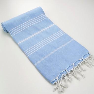 pastel blue peshtemal towel