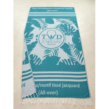 Custom woven Turkish peshtemal towel