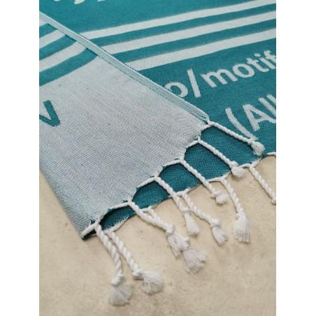 jacquard woven Turkish peshtemal towel