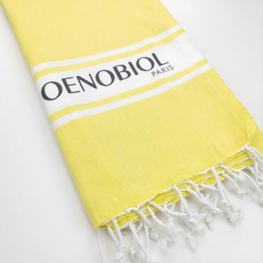 printed logo promotional turkish towel