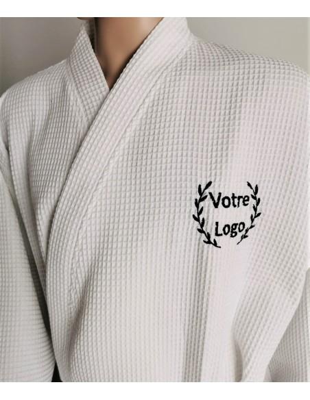 custom logo embroidered bathrobe