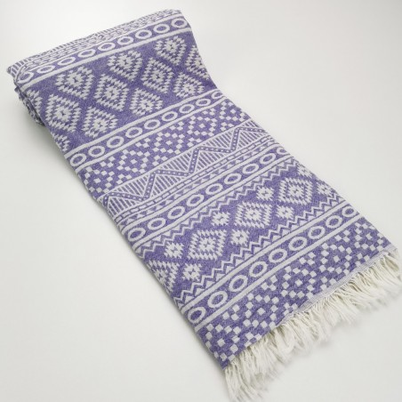 aztec style pattern towel indigo