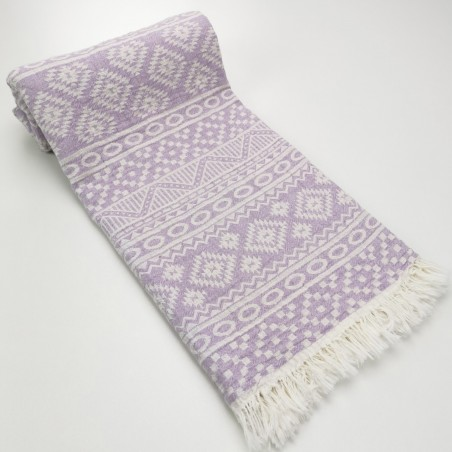 aztec style pattern towel lilac