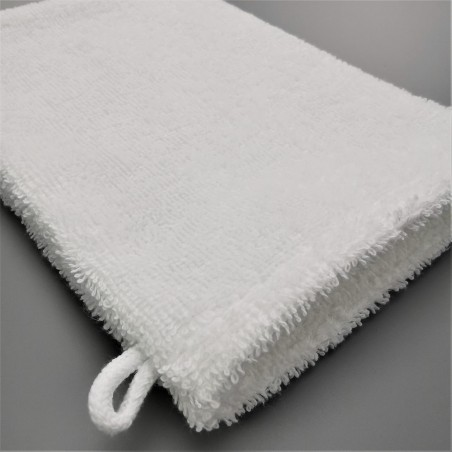 washcloth white terry cotton double yarn