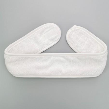 Bandeaux en eponge coton blanc