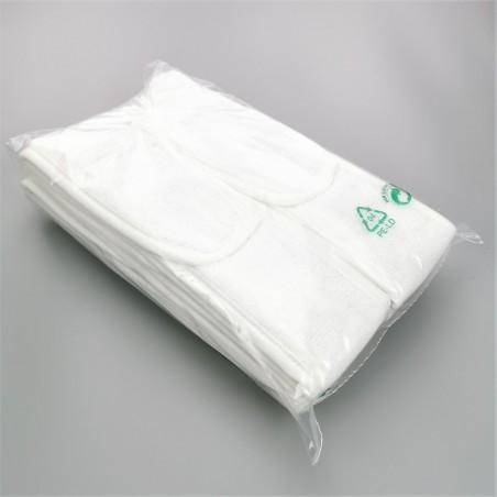 Bandeaux éponge en eponge coton blanc en gros
